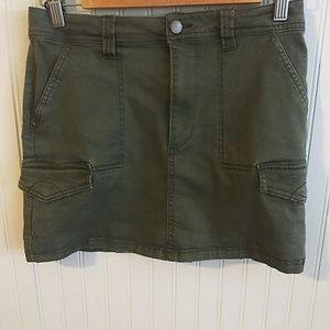 Denim Collection Mini Olive Green Skirt